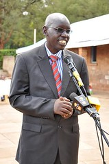 PS Dr Bellio Kipsang making his remarks