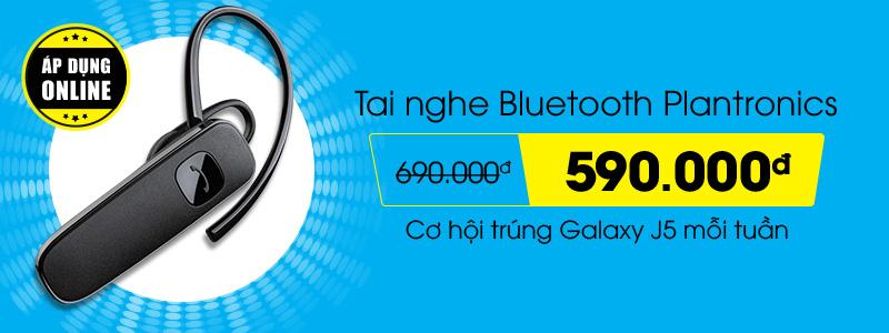 Tai nghe bluetooth Plantronic giảm sốc 100.000đ – Cơ hội trúng Galaxy J5 mỗi tuần