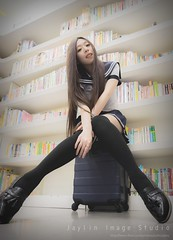 jaylin-0262 ( Jaylin) Tags: travel portrait stockings girl outside ol photo airport model women uniform open library longhair taiwan olympus lookout heels taipei sailor mirco omd pepole hight m43 mzd jelin linjay