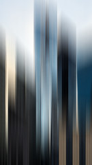 Vertical Glass (RandomCityLights) Tags: blue abstract paris france glass skyline skyscraper beige highrise blurr ladfense