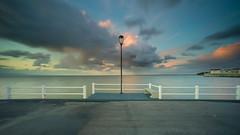 Lighthouse pretender (Joo Cruz Santos) Tags: longexposure seascape portugal landscape pier alcochete 3stops sonya7 ndgradreverse sel1018