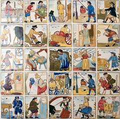 Los adelantos del siglo XIX (Ramn Casas y otros) (-Merce-) Tags: azulejo manises ramncasas museomaricel pelploma adelantossigloxix