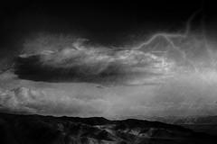Desert Storm (East of 29) Tags: bw cloud texture 29palms lightning desertstorm sliderssunday