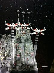 Lego MOC Mini Battle of Yavin aka Death Star Trench (erman_arzk) Tags: starwars lego deathstar moc afol xwingfighter battleofyavin starwarsepisode4 lomlug