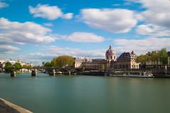Institut de France (Chakib.T) Tags: city urban paris colors architecture clouds movement nikon cityscape nd longexpossur d800e