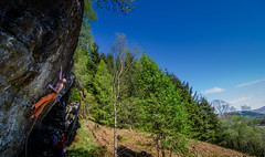DSC_6232-2 (Fras333) Tags: rock climb countryside perthshire climbing rockclimbing strathyre schist sportclimb