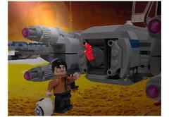 escape from Jakku (opu2014) Tags: starwars lego xwing poe moc t70 dameron episodevii jakku theforceawakens