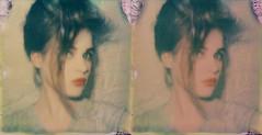 film, test. (Emmaalouise Smith) Tags: old portrait test film square polaroid emma experiment smith louise lipstick analogue px emmaalouise