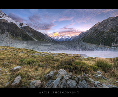 Aoraki Mount Cook, MacKenzie, South Island, New Zealand :: HDR (Artie | Photography :: I'm a lazy boy :)) Tags: newzealand christchurch mountain lake reflection nature photoshop canon landscape landscapes rocks tripod wideangle mackenzie valley southisland 1020mm hdr scrubs mountcook artie aoraki cs3 3xp sigmalens photomatix tonemapping tonemap xti 400d rebelxti