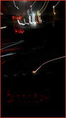 Night time - tryptich (Machicouly) Tags: light luz night drive driving lumire nuit flou