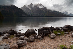 Jenny Lake, Grand Teton National Park (John Cothron) Tags: summer usa lake nature water landscape outdoor reservoir wyoming stormyweather grandtetonnationalpark jennylake windrain johncothron cothronphotography
