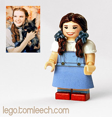 Dorothy (Wizard of Oz) (tomleech) Tags: frank dorothy lego oz wizard mini garland gale figure l judy minifig custom baum 1939