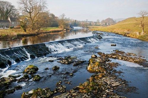 The River Wharfe at Linton Bridge.