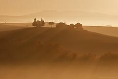 Misty Chapel (Corsaro078) Tags: sunrise landscape alba chapel tuscany siena toscana paesaggio colline cappella cretesenesi d90 vitaleta sanquirico