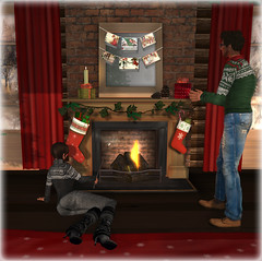 {what next} The Night Before Christmas Fireplace (WinterThorn) Tags: christmas winter sl secondlife whatnext nightbeforechristmas winterthorn {whatnext} zombiepopcorn darkmagicwinter