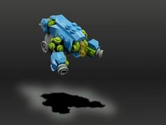 Drone (aabbee 150) Tags: blue baby table lego gimp lime scrap drone foitsop