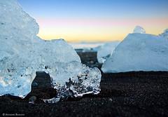 Ice (Annasara Bjaaland) Tags: sunset orange cold ice iceland closerlook jkulsarlon