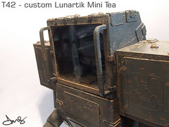 DMS T42 custom lunartik mini tea designer toy (DMS One) Tags: art kidrobot robots resin mecha qee dunny mech designertoys dms arttoys lunartik vinyltoys customtoys resintoys minitea dmsone