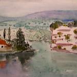 "<b>Rhone bis Belle Garde</b><br/> Frans Wildenhain ""Rhone bis Belle Garde"" Watercolor, n.d. LFAC #495<a href=""http://farm8.static.flickr.com/7004/6466264497_fef707f969_o.jpg"" title=""High res"">∝</a>"