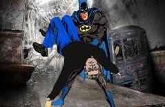 Bat Save (Shannon Trevor IADC) Tags: rescue woman love boyfriend robin out wonder dc hurt amazon girlfriend arm save romance batman knocked marvel distress carry peril injured unconscious damsel saviour koed mansel romanticman