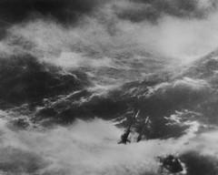 The Fury (opticalreflex) Tags: ocean sea blackandwhite bw storm mamiya film glass tallship tempest fury magiclantern lostatsea