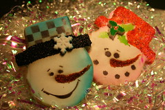 Snow Couple Cookies
