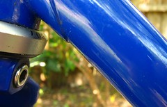 Hillman DT bulge 2 (ah_blake) Tags: hillman bike bicycle road frame blue 531 pantographed singlespeed fixed fixie velocity aerohead