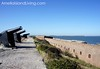 Cannons Line Wall at Fort Clinch in Fernandina Beach