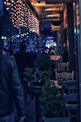 street and cigarette (cansaltik) Tags: street city blue light art night canon turkey eos ankara