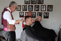 Haircut! (Ian Macfadyen) Tags: barbersshop goodwoodrevival2011