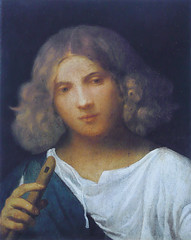 Giorgione - Shepherd boy with flute (1508) (petrus.agricola) Tags: boy portrait london court la  with shepherd royal flute collection greater hampton con berger flte giorgione flauto garzone