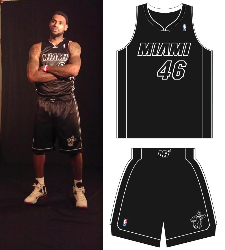 big sale 3d5fc 60822 miami heat all black jersey