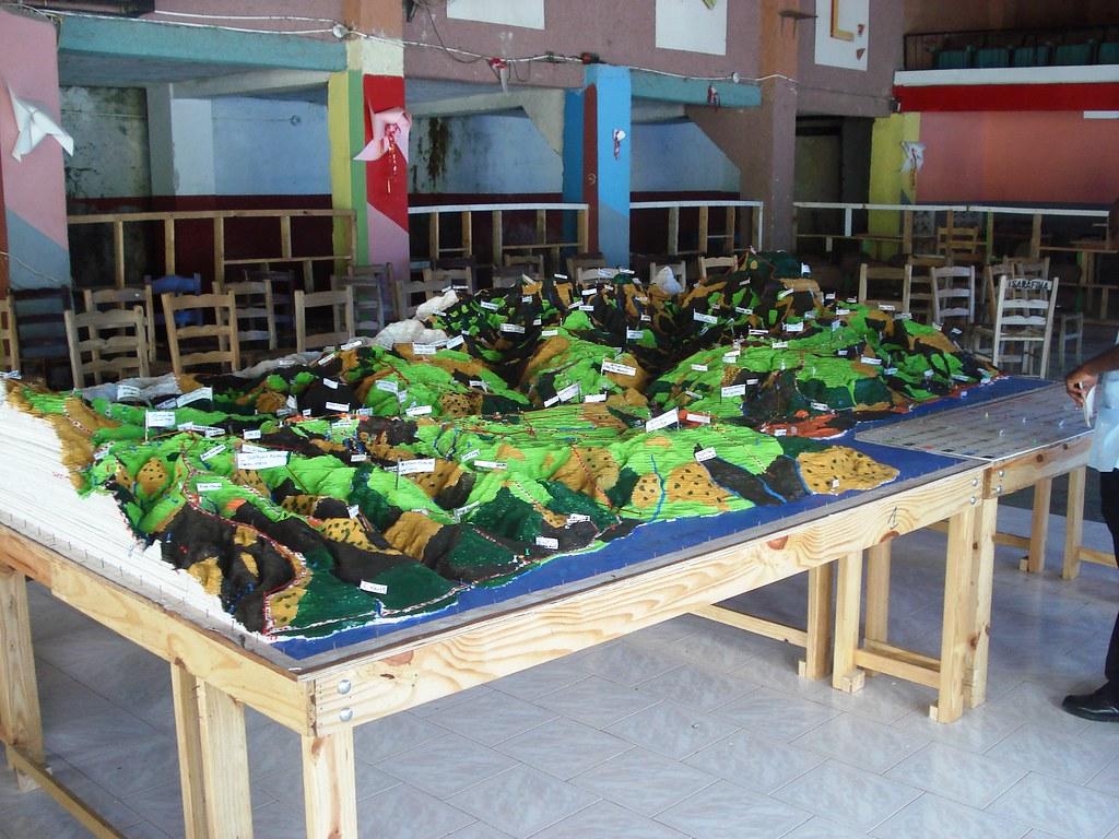 Maquette 3D Rivière Fond Melon et Grande rivière de Jacmel