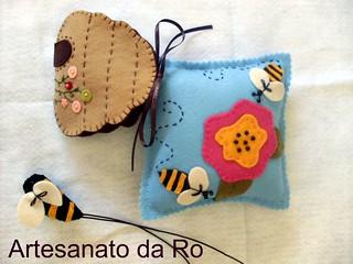 kit costura em feltro abelhinha
