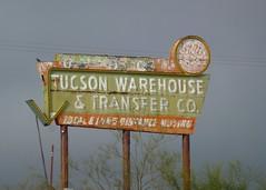 Tucson, AZ Tucson Warehouse & Transfer Co sign (army.arch) Tags: arizona sign bulb neon tucson ghost az faded arrow