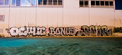 Ocult, Bonus, Pear (TheHarshTruthOfTheCameraEye) Tags: graffiti san francisco pear bonus oc outlaws nsf ocult n4n