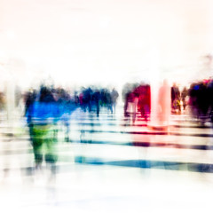 Dagens foto - 080: Like an Egyptian (petertandlund) Tags: christmas street city longexposure blue shadow red man color silhouette yellow shopping square shadows sweden stockholm stripes dream streetphotography dreamy 365 sthlm 08 slowshutterspeed norrmalm gallerian 80365 bluefortwo