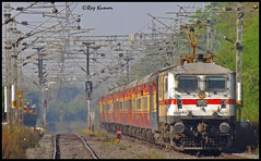 Bangalore Rajdhani (Raj Kumar (The Rail Enthusiast)) Tags: canon indian bangalore loco express karnataka railways raj abb bhopal kumar rajdhani 30299 wap7 misrod sx30is