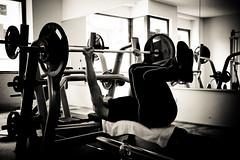 FOCUS 6 (olivermaximilian) Tags: blackandwhite berlin germany deutschland focus bodybuilding lukas dedicated workout fitness schwarzweiss focused disciplined photodocumentation canoneos400d krafttraining plociennik canoneos550d