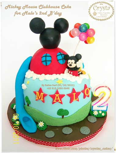 Mickey Mouse Clubhouse Cake For Malos 2nd Bday A Photo