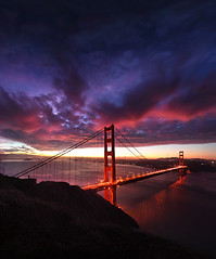 MAGNETO (Andrew Louie Photography) Tags: ocean sf california bridge sun love beauty clouds sunrise canon landscape golden bay gate san francisco december moody cityscape pacific sfo anniversary vibrant jazz area passion 24mm rise 75 drama jazzy adversity riskibebe
