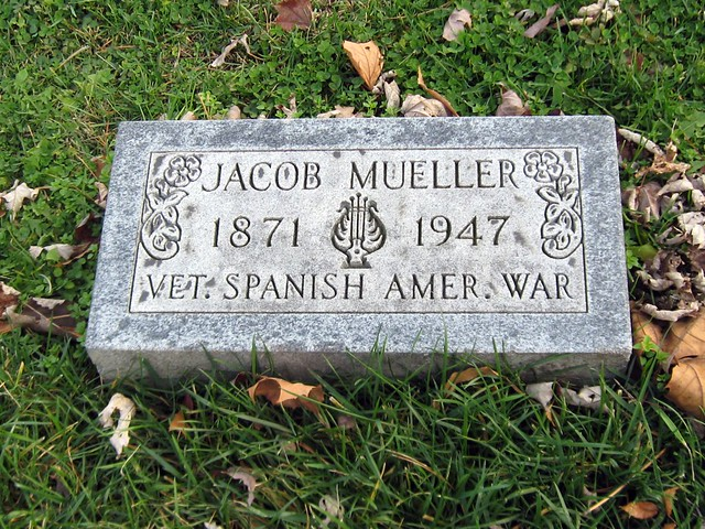 Grave of Jacob Mueller, Veteran, Spanish American War