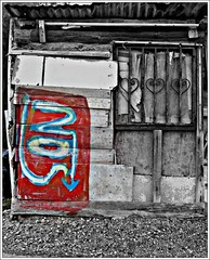 No entrance (Eleanna Kounoupa (Melissa)) Tags: windows red doors no huts