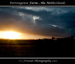 Portengene Farm, the Netherlands (drbob97) Tags: trees light sunset sky sunlight tree netherlands dutch grass rain weather clouds dark landscape licht zonsondergang utrecht day farm nederland meadow gras lucht heavy regen rainclouds landschap zonlicht drbob dagen regenwolken boederij donkere warmlicht friendsphotography stevige drbob97 luchtpartij portengene