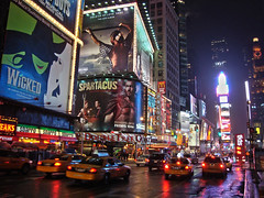 Times Square, New York City, United States (Ferry Vermeer) Tags: nyc newyorkcity travel usa ny newyork night ads us theater neon unitedstates theatre manhattan cab taxi unitedstatesofamerica ad broadway taxis mcdonalds advertisement virgin musical busy wicked timessquare neonlights artdeco musicals cabs advertisements bigapple spartacus tkts 7thavenue sbarro estadosunidos paramounttheatre seventhavenue duffysquare theaterdistrict crossroadsoftheworld midtownmanhattan travelphotography theatredistrict tatsunis paramountbuilding newyorktimesbuilding vereinigtestaaten frentastaterna onetimessquare newyorktimestower verenigdestaten  stanyzjednoczone  amerikaserikat thegreatwhiteway 1501broadway       1475broadway  ferryvermeer birleikdevletler