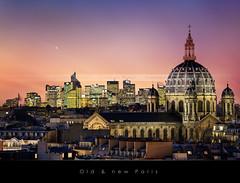Old and New Paris   EXPLORED #6   (Beboy_photographies) Tags: paris saint de la soleil moderne nouveau soir église augustin hdr vieux immeuble ancien défense couché paroisse
