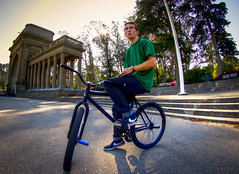 Payton Schwarz (tobyharriman) Tags: sanfrancisco california people bicycle northerncalifornia canon photography january bikes fisheye biking fixed fixie fixedgear trick hdr blk 2011 mrkt blkmrktbikes trickbiking tobyharriman 815mm 815mmf4l f4lfisheyenorthern bikesbikespayton schwarzfixedfixed paytonschwarz