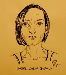 Portrait Isabel Galve Burillo (Sketchmanni) Tags: sketch sketchbook tinte moleskin feder manni fller innk jkpp