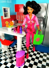 Barbie - Recycle Time Accessories (Dawn Ellis) Tags: barbie recycle diorama dollfurniture trichelle aabarbie barbieplayset dolldiorama soinstyle barbierecycletime