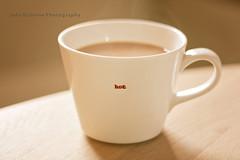 Feeling Hot Hot Hot ([ J a d e ]) Tags: blur cup coffee canon 50mm tea drink bokeh mug f18 hotdrink 50mmlens